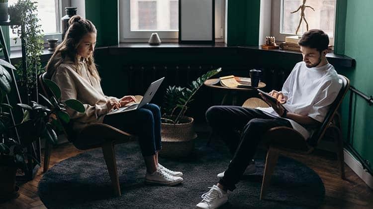 smartworking in coppia